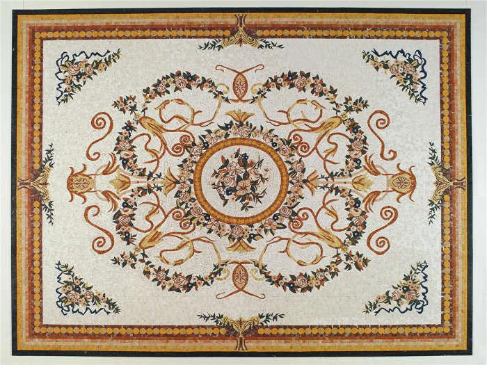 mosaico personalizzato tappeto