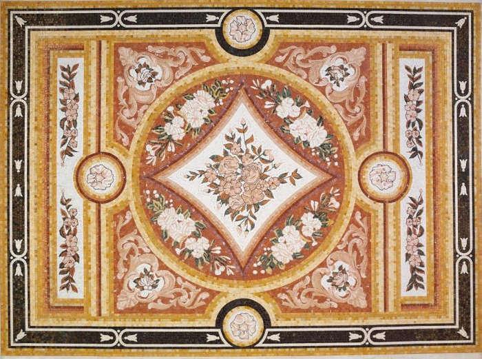 mosaico tappeto casa